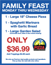Family Feast Specials, Slice of the Pie Pizza