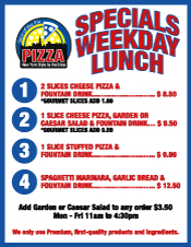 Lunch Specials, Slice of the Pie Pizza